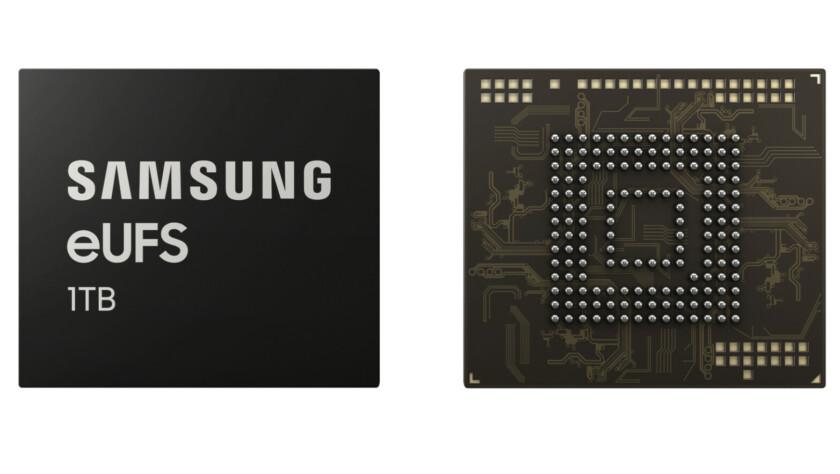 Samsung eUFS 1 terabyte storage