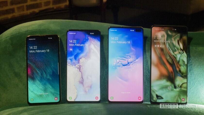 Samsung Galaxy S10, S10e, S10 Plus, and S10 5G