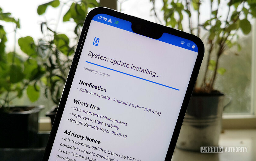 Nokia 7.1 installing Android 9.0 Pie update