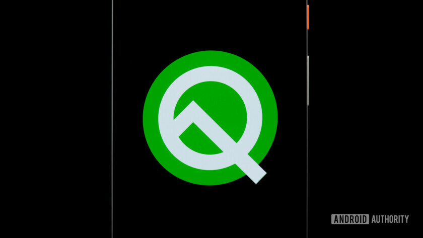 Android Q icon on Pixel 2