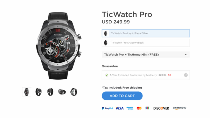 Deal on the Mobvoi TicWatch Pro