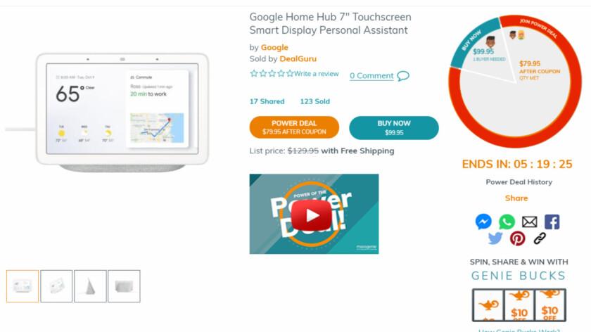 Google Home Hub deal