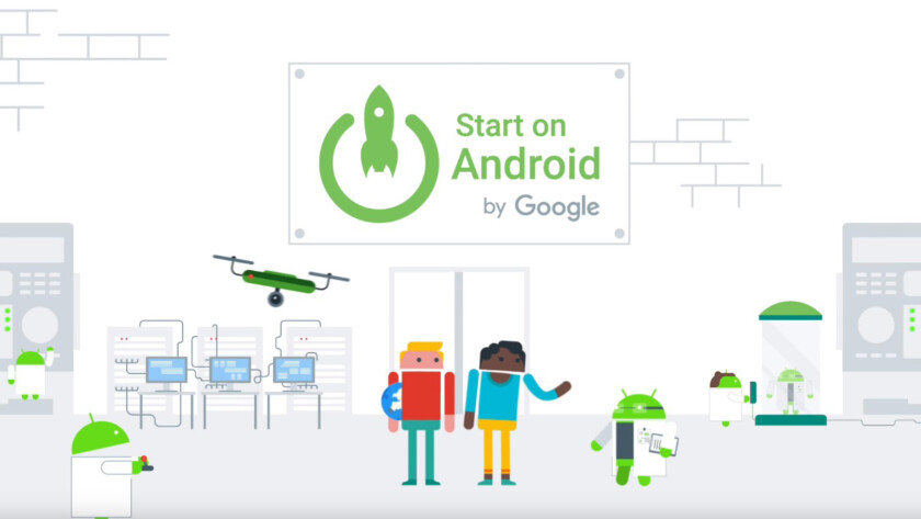 A still image from a YouTube video promoting Start on Android by Google, a program which helps app developers launch on the Google Play Store.