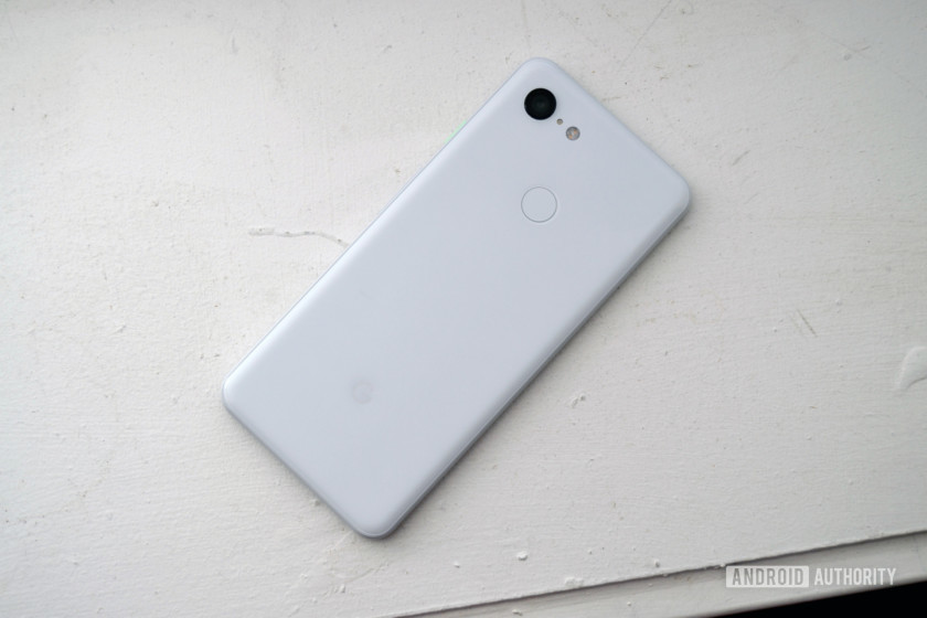 google pixel 3 clearly white color design