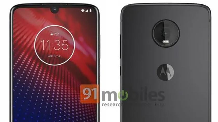 Leaked renders of the Motorola Moto Z4.