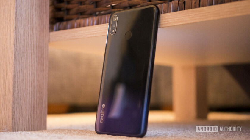 A propped up Realme 3.