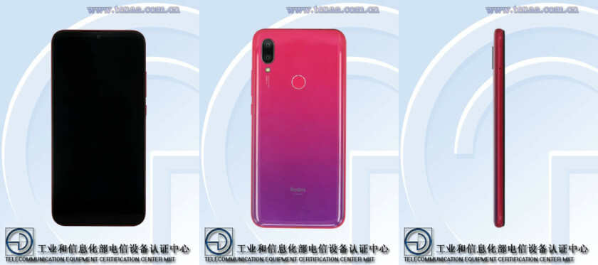 A Xiaomi Redmi phone seen on TENAA, rumored to be the Redmi 7.
