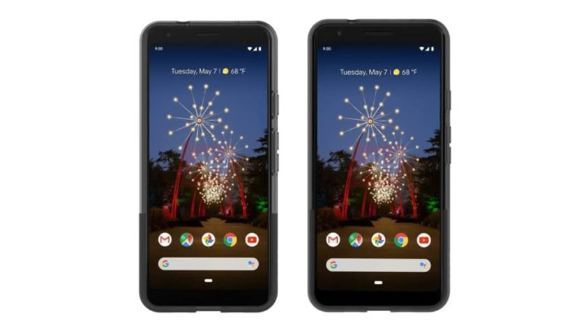Alleged official renders of the Google Pixel 3 a and Google Pixel 3a XL.