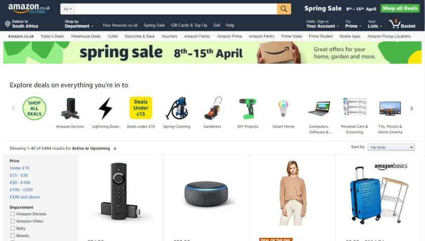 Amazon Spring Sale.