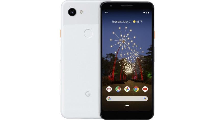 An apparent Google Pixel 3a render.