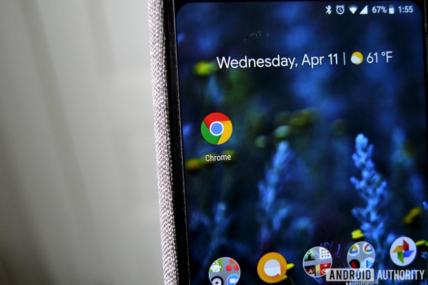 Google Chrome on the Pixel 2 XL.