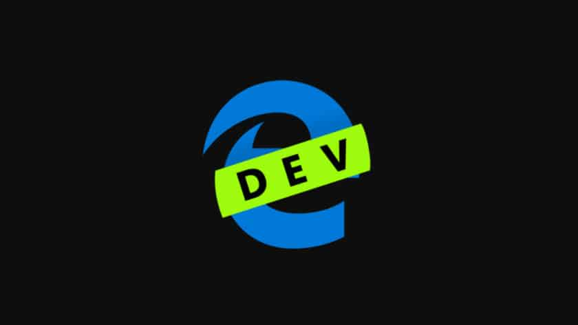 Logo of the Developer build of Microsoft Edge.