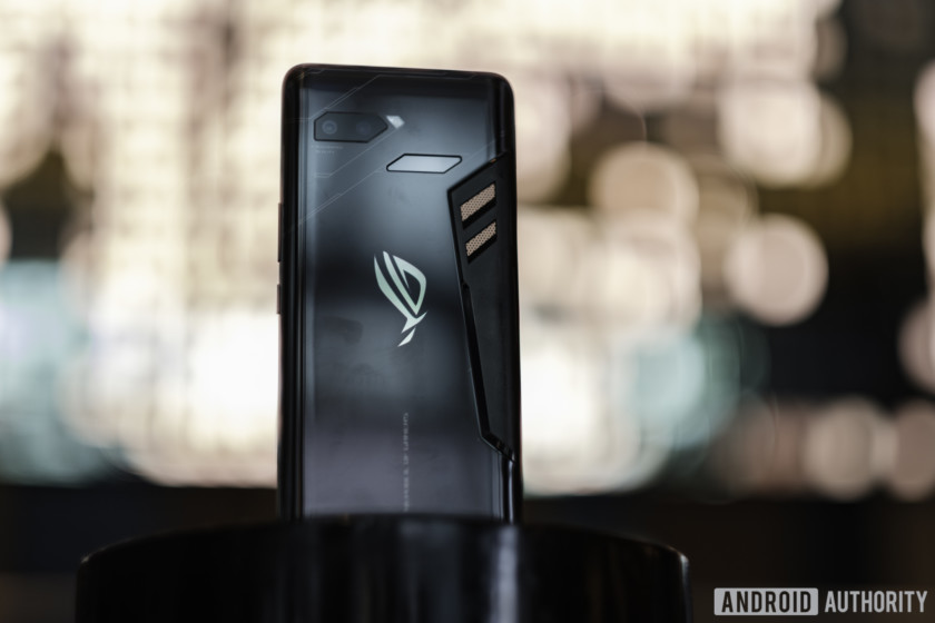 The back of the Asus ROG Phone.