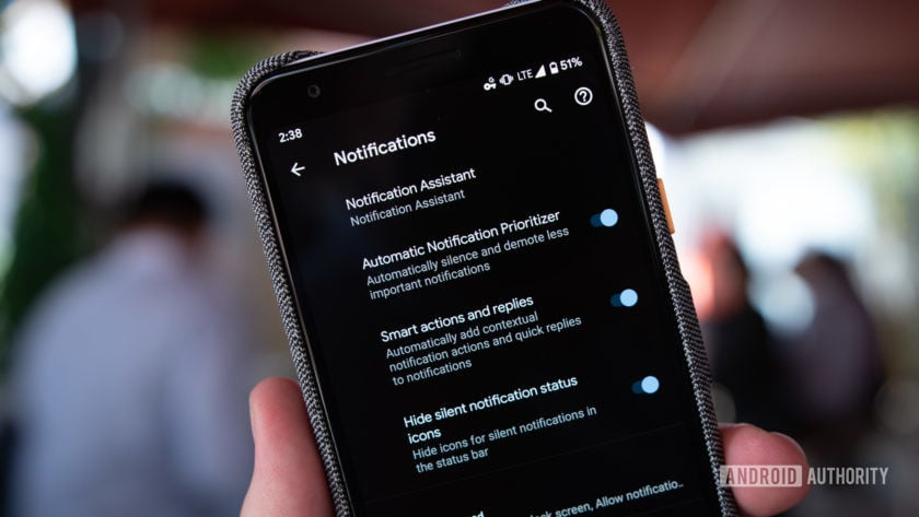 Android Q Beta 3 Notifications Settings