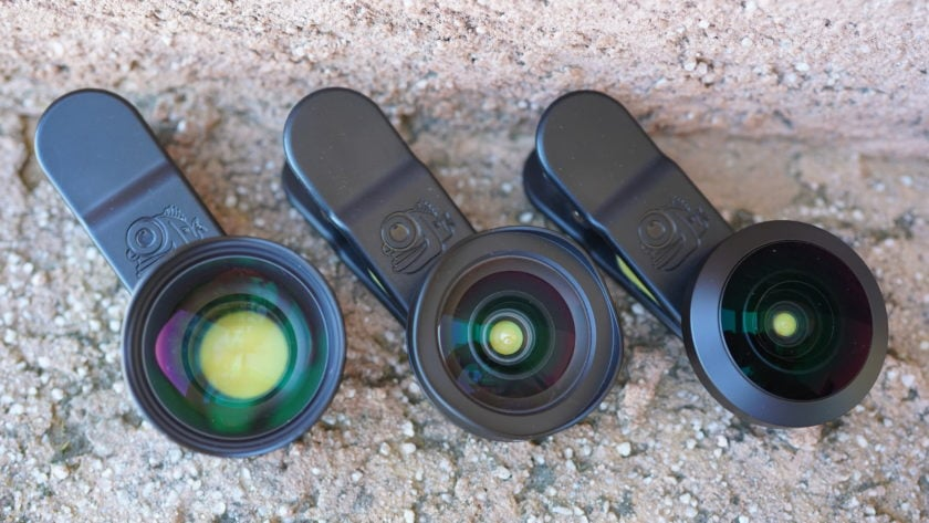 Black Eye Pro Kit G4 review three lenses