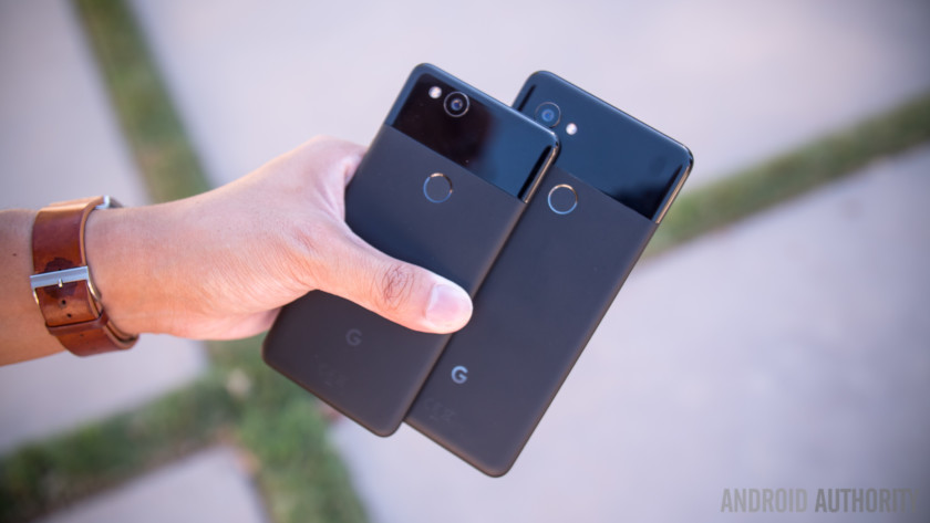 The Google Pixel 2 and Pixel 2 XL.