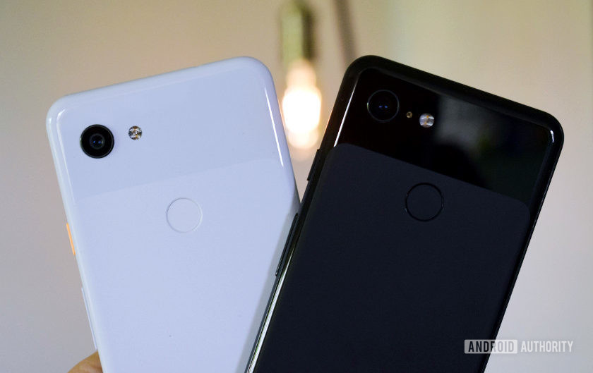 Google Pixel 3a vs Pixel 3 back lighting, colorful picture