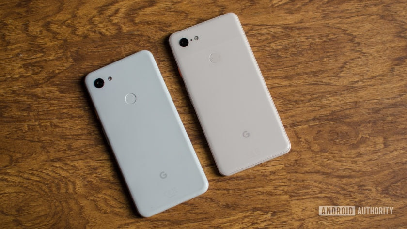 Pixel 3 XL vs Pixel 3a XL back of the phones