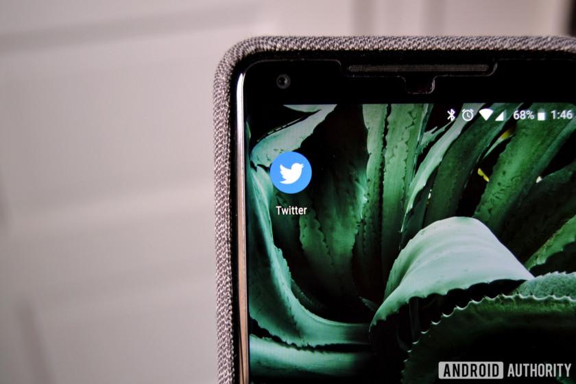 Twitter app on a Google Pixel smartphone