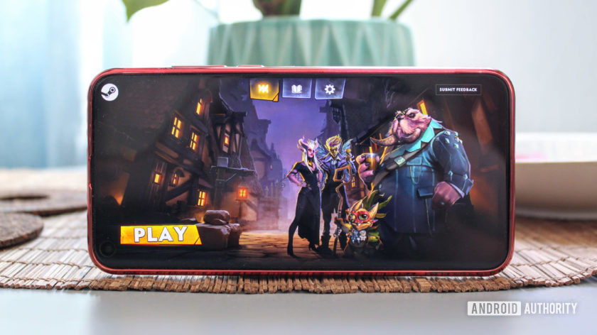 Dota Underlords on the Honor View 20 showing the splash image.
