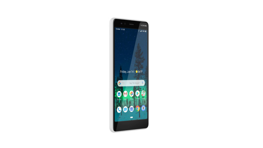Official press render of the Nokia 3.1 for AT&T and Cricket Wireless.