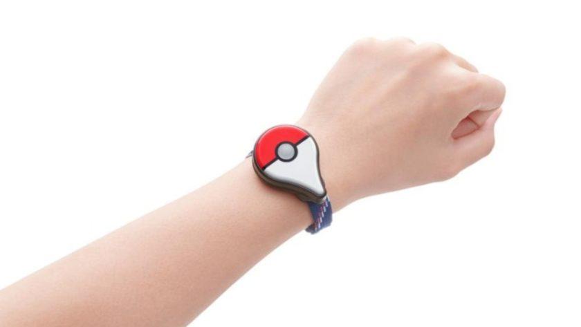 Pokemon Go Plus on wrist
