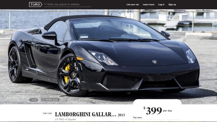 Turo Rental Lamborghini