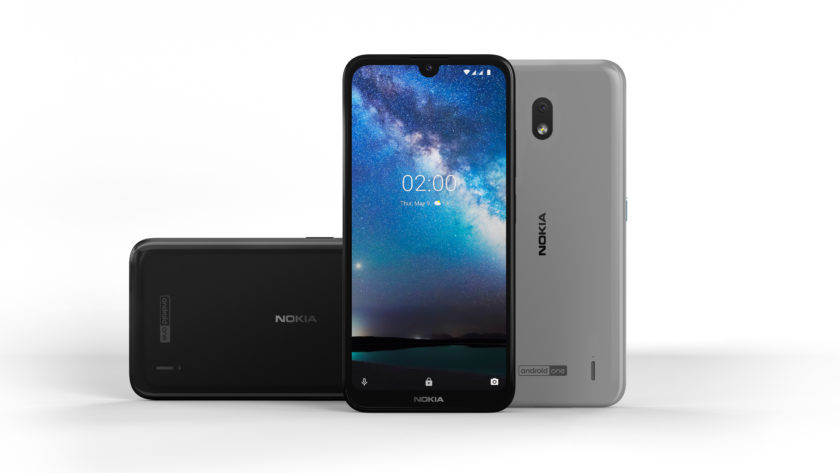 The Nokia 2.2 from various angles.