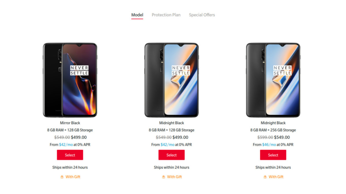 Deal on the OnePlus 6T