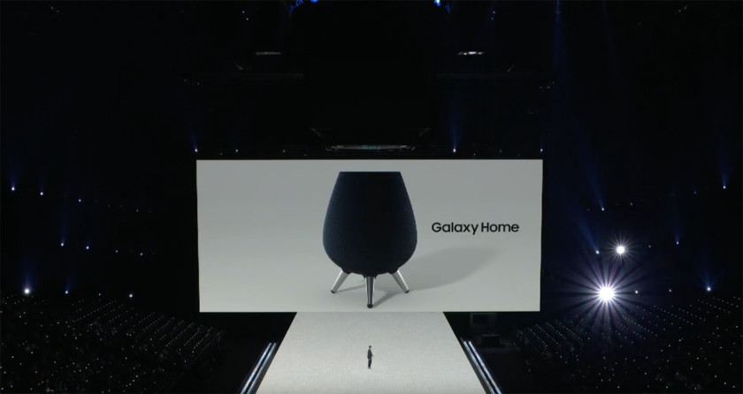 The Samsung Galaxy Home as it appeared on August 9, 2018, at the Samsung launch event.