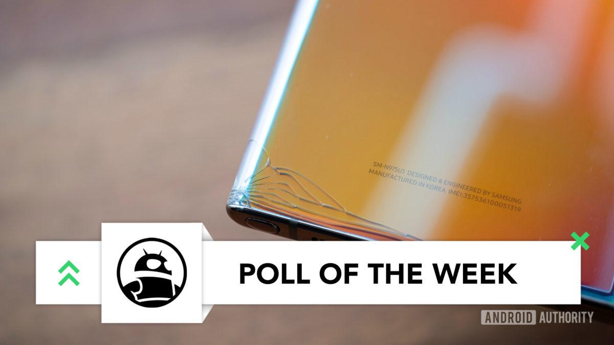 Samsung Galaxy Note 10 Plus back corner crack poll of the week