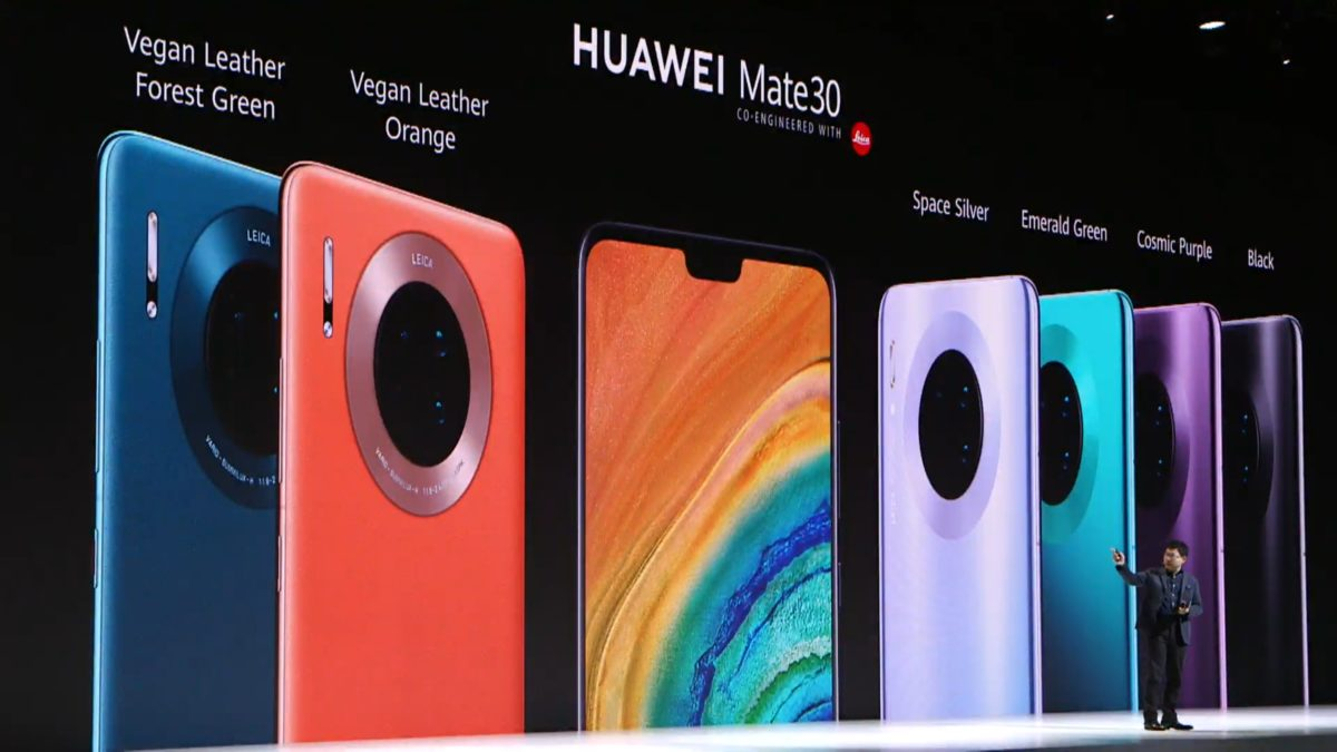colors Huawei Mate 30 launch
