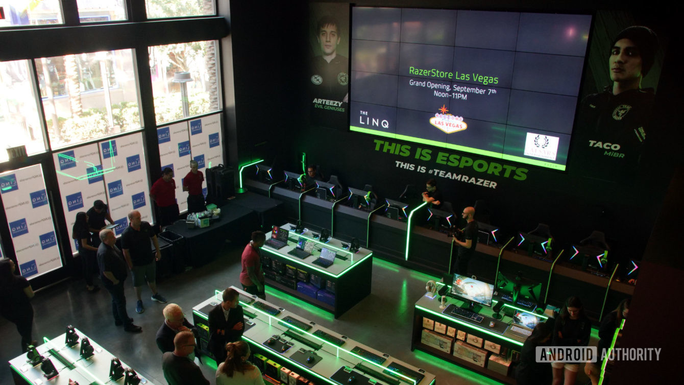 Razer store from DJI booth