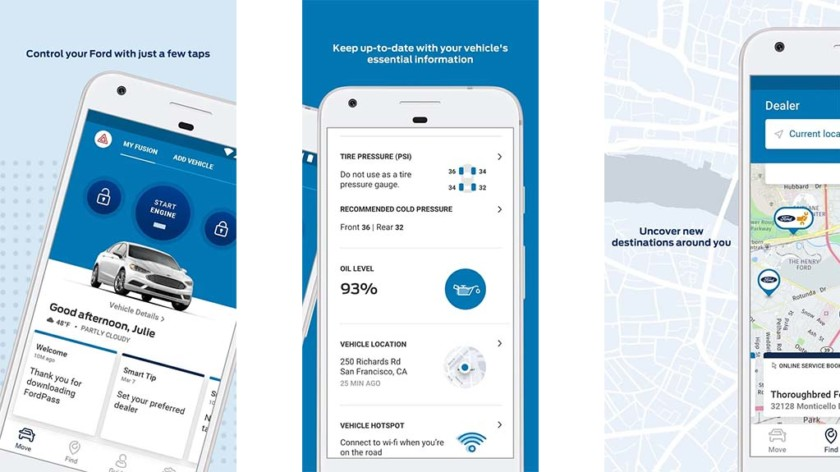 FordPass screenshot for the best parking apps