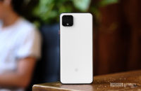 Google Pixel 4 XL back panel on table 1