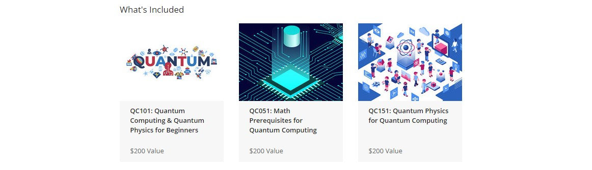 The Learn Quantum Computing for IBM Bundle Courses