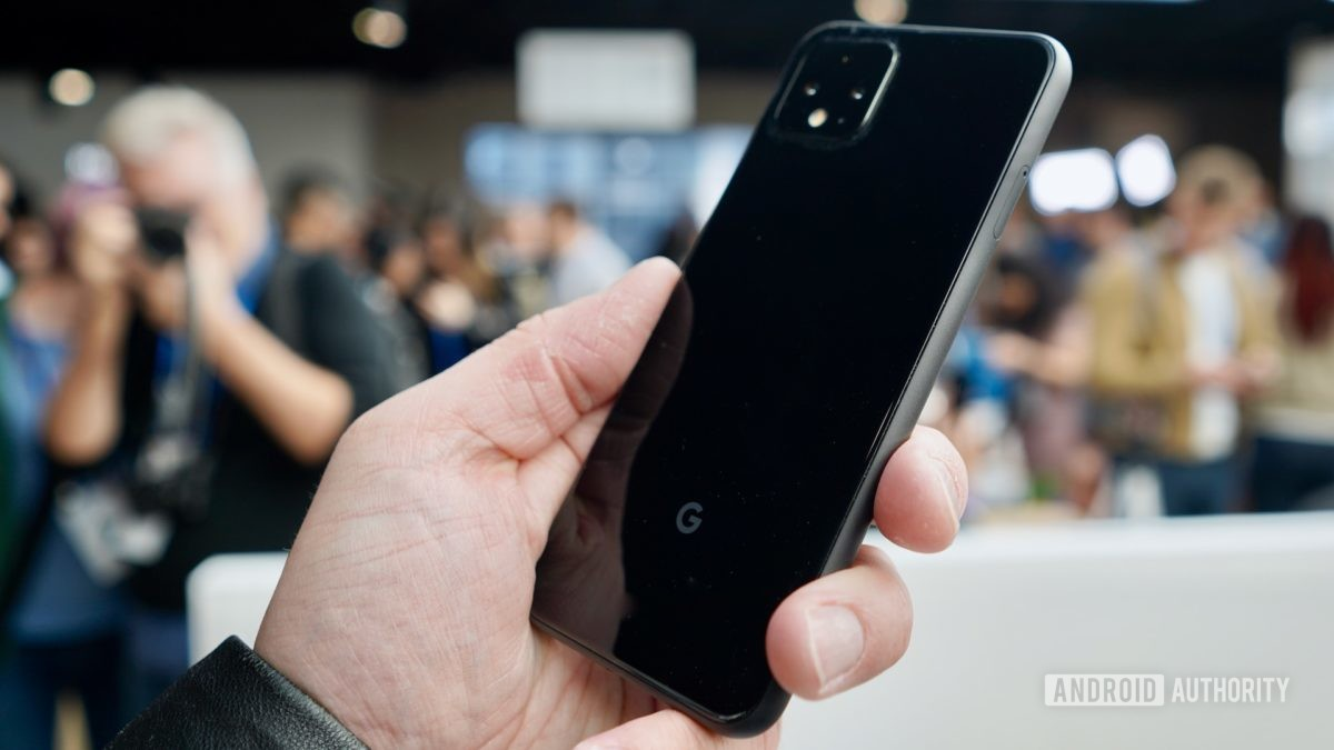 Google Pixel 4 black right profile
