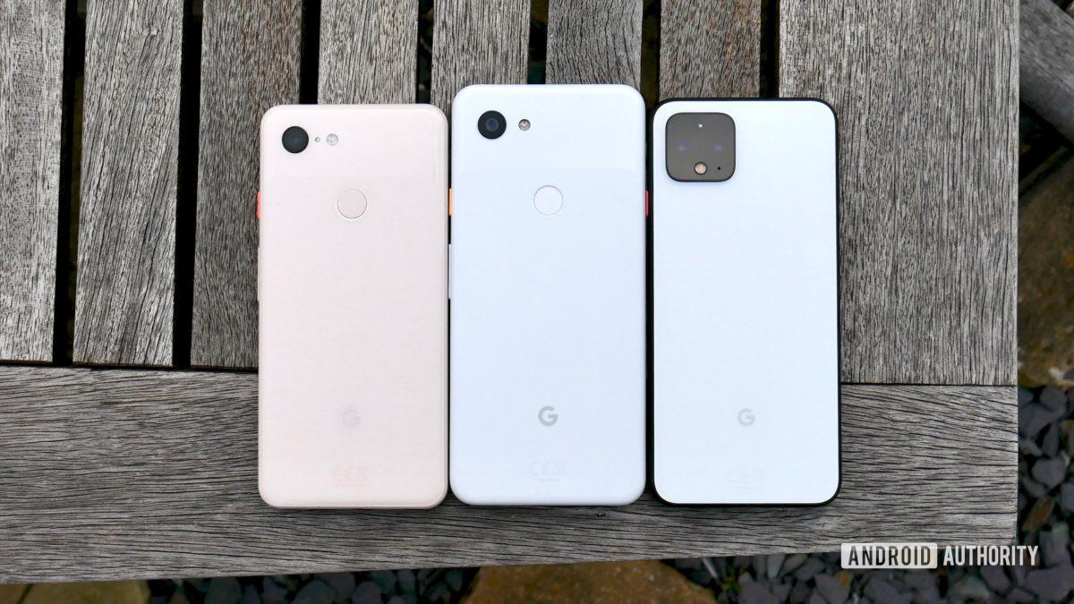 google pixel 4 vs pixel 3 vs pixel 3a 4