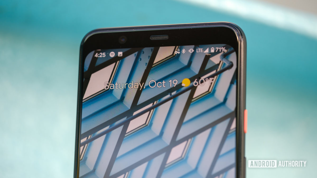 Google Pixel 4 XL top bezel and speaker 9