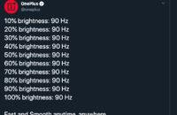 OnePlus 90hz tweet maink fun of Pixel 4