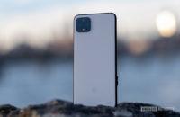 Google Pixel 4 XL standing on rock 14