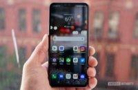 LG V50 ThinQ Review against brick