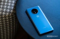 OnePlus 7T back face down at angle 1