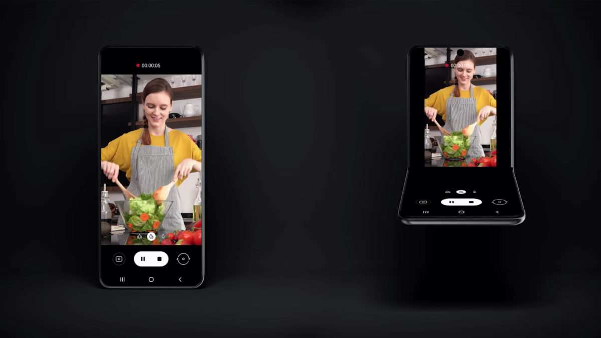 new samsung galaxy foldable smartphone flip phone samsung developer conference 2019 open vs closed