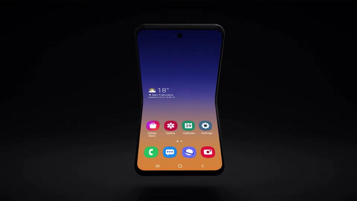 new samsung galaxy foldable smartphone flip phone samsung developer conference 2019 2
