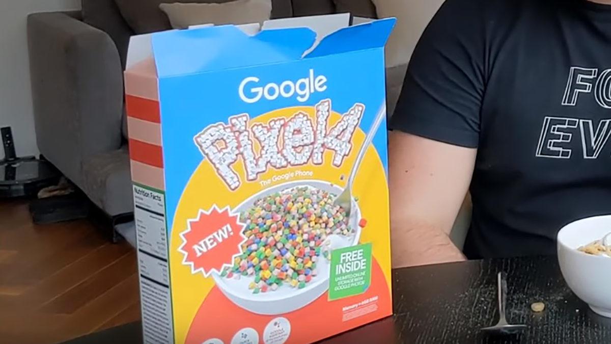 Google Pixel 4 Cereal Box