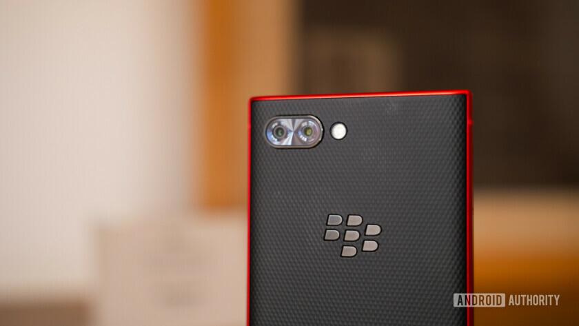 Blackberry KEY2 Red Edition rear cameras