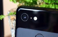 Google Pixel 3 camera lenses close up