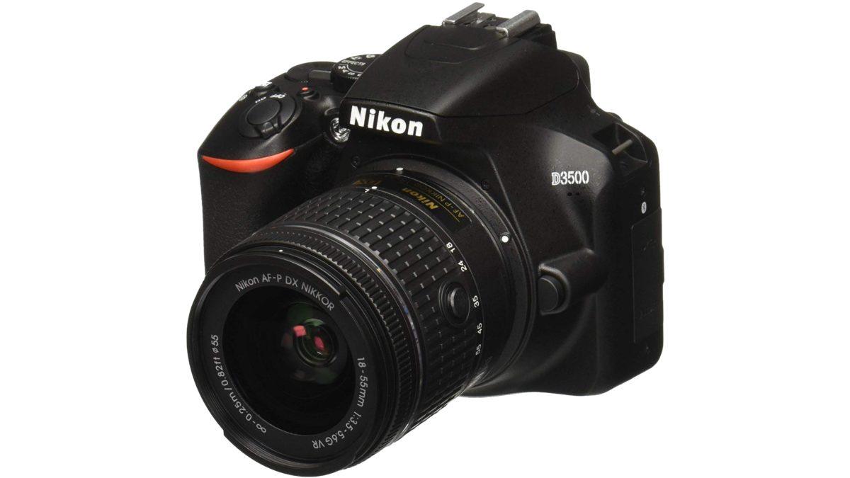 Nikon D3500 with kit lens