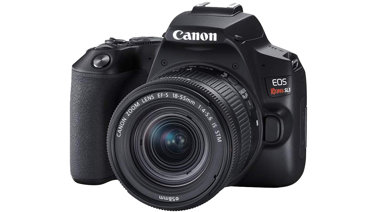 Canon Rebel SL3 with kit lens